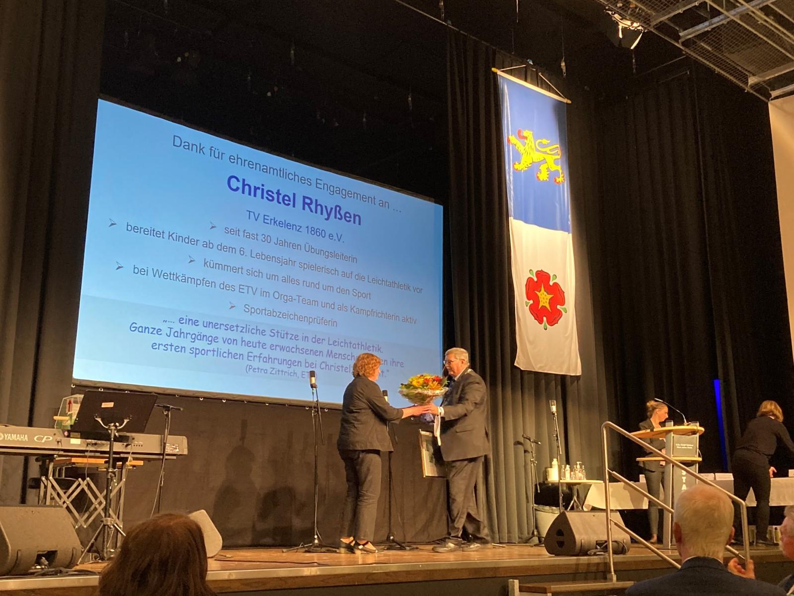 Christel Rhyßen - Dank für ehrenamtliches Engagement