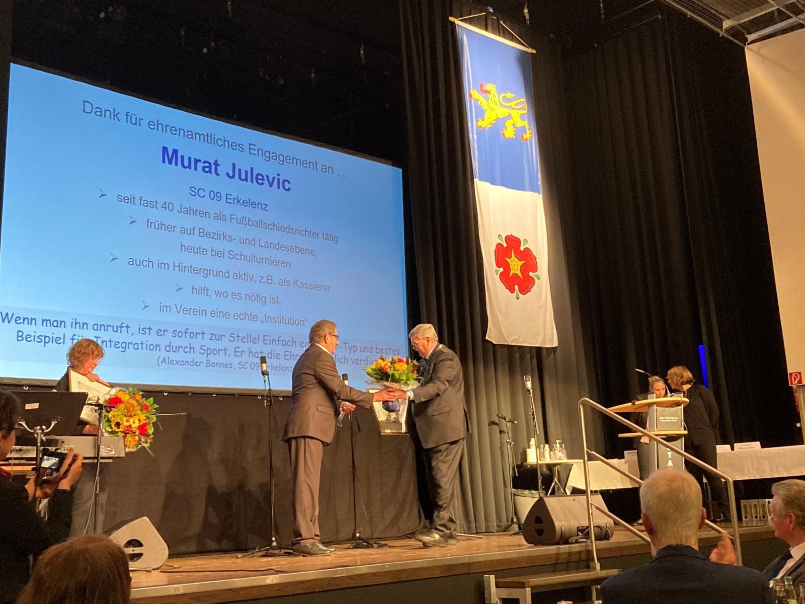 Murat Julevic - Dank für ehrenamtliches Engagement